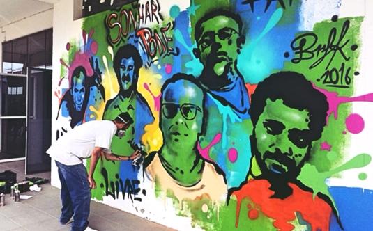 grafite marejada